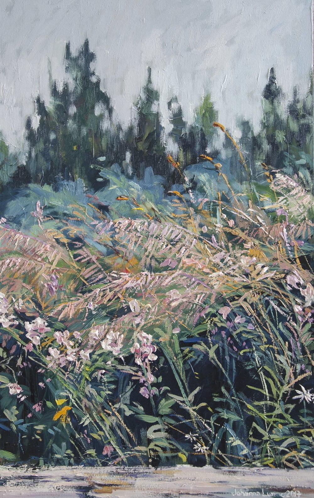 Johanna Lumme, Vapauteen kurkottavat, 40 x 50 cm, 2017, 1300 €, SOLD