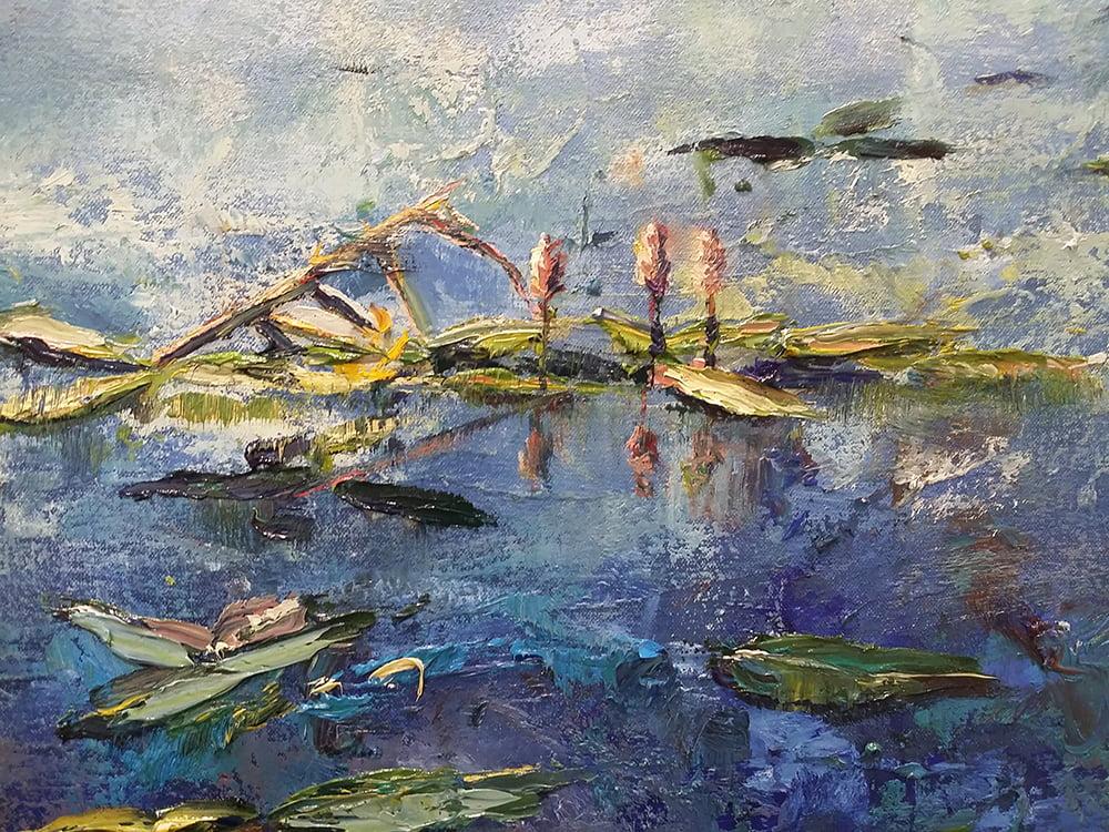 Johanna Lumme taiteilijan luontoaiheinen öljyvärityö, taide, maalaus