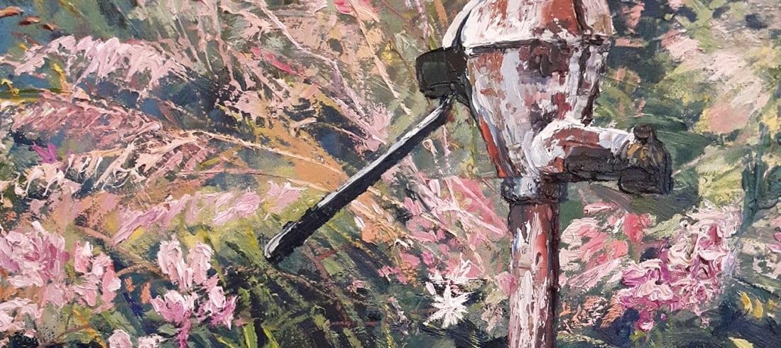 Johanna Lumme taiteilijan luontoaiheinen öljyvärityö